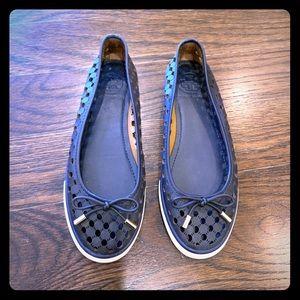 Tory Burch Skylar Perforated Ballet Sneaker